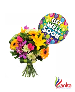 Get Well Soon Bunch Of Flowers