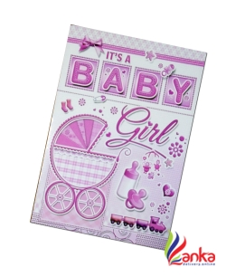 New Borne Baby Girl Card