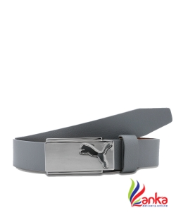 Puma Men High Flyer Leather Belt Gray
