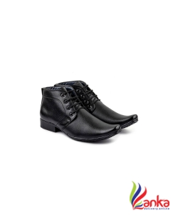 De Loyon Black PartyWear Formal Shoes Lace Up For Men  (Black)