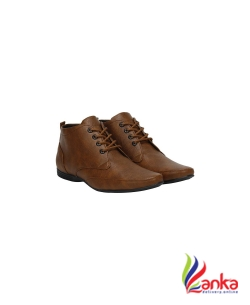Knight Ace Long Corporate Lace Up For Men  (Tan)