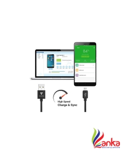 V7 Micro USB Cable – 2.0 Amp Fast Charging & High Speed Data Cable (1 M) USB Cable  (Black)