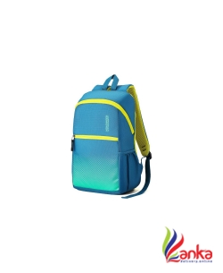 American Tourister AMT DASH SCH BAG 01 - TEAL 19.5 L Backpack  (Yellow, Blue)