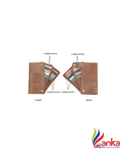 ABYS Genuine Leather 20 Card Holder  (Set of 1, Tan)