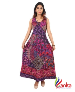 Attire Key Womens Maxi Multicolor Dress