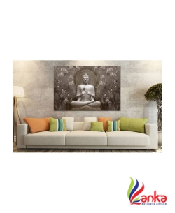 SAF BUDDHA SPARKLE COATED SELF ADHESIVE WITHOUT FRAME Digital Reprint Painting  (24 inch x 36 inch)2