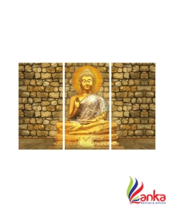 SAF BUDDHA 8MM MDF PANEL Digital Reprint Painting  (18 inch x 24 inch)