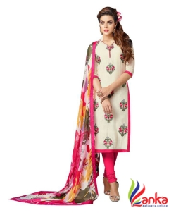 fotoablearc Embroidered Kurti & Salwar  (Stitched)