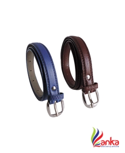 Elligator Women Casual, Formal, Party Blue, Brown Artificial Leather Belt2