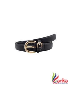 Baluchi Women Party, Casual Black Artificial Leather Belt