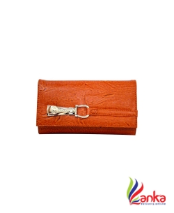 Aginos Women Brown Artificial Leather Wallet  (4 Card Slots)