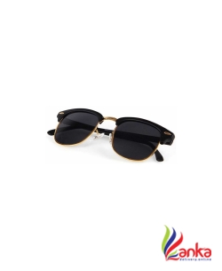 Aoking Clubmaster Sunglasses  (Black)