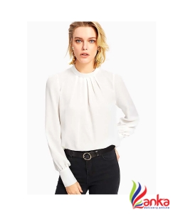 Alfa Fashion Party Puff Sleeve Solid Womes White Top