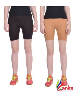 Dollar Missy Solid Womens Multicolor Cycling Shorts