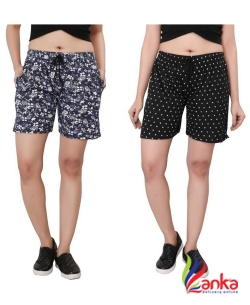 Bfly Printed Women Multicolor Basic Shorts