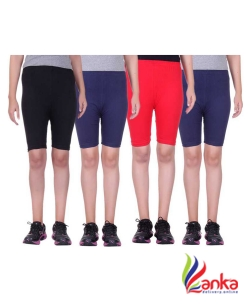 Belmarsh Solid Women Black, Blue, Red, Blue Cycling Shorts