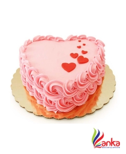 Picture Heart Pink cake