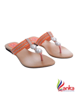 Airsoon Women Peach,Beige,Brown Flats