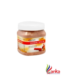 Biocare SANDAL SCRUB with sandalwood oil and Turmeric Extract Scrub  (500 ml)
