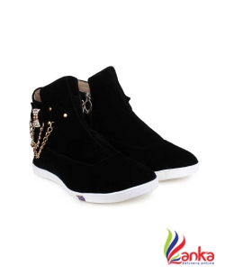 Cattz Boots For Women  (Black)