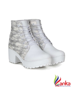 Fashimo Boots For Women  (White)