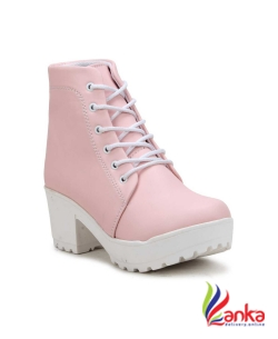 Fashimo Boots For Women  (Pink)