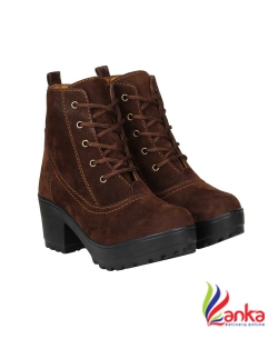 Fashimo Boots For Women  (Brown)