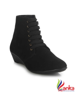 Do Bhai Boots For Women  (Black)