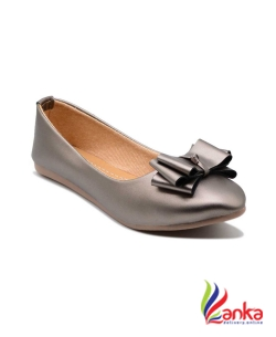 Myra Party Wear Bow Bellies For Women  (Silver)