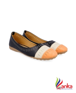 Myra Multicolor Laser Cut Bellies For Women  (Black)