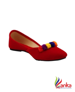 Foot Soul Jutti Bellies For Women  (Red)