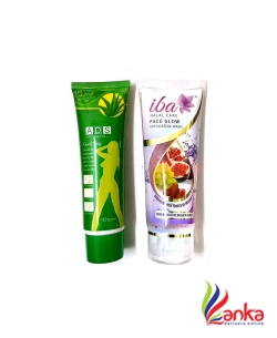 Iba Halal Care REFRESHING PACK -IBA FACE GLOW EXFOLIATING WASH AND ADS FACE&BODY SCRUB PACK  (Set of 2)