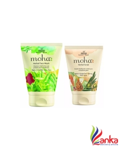 Moha HERBAL SCRUB AND HERBAL FACE WASH Face Wash  (100 g)