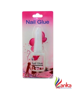 Ear Lobe & Accessories Brush On Glue 10ml Acrylic Nail Art Glue For French False Tips And Rhinestones Manicure  (Pink)
