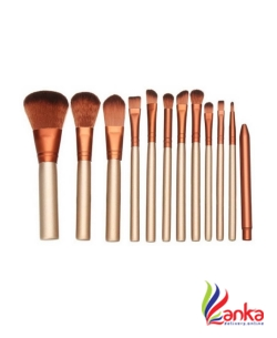 Katti Del Coco Cosmetics Makeup Brush Set with Storage Box  (Pack of 12)