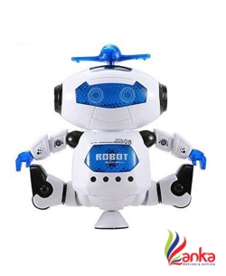 Miss & Chief 360 Degree Rotating Naughty Dancing Robot Toy with Light and Sound  (Multicolor)