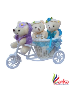 kuku Smart Guy With 2 Beauties On Cycle - 15 cm  (Multicolor)