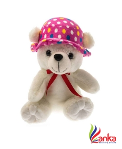 Dimpy Stuff Bear WCap - 20 cm  (White)