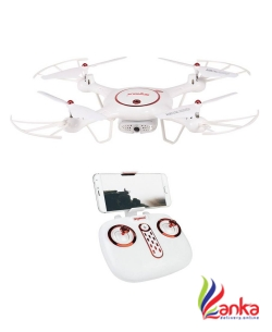 Hobbitos Syma X5UW-D Radio Controlled 90 Degree Rotatable Wi-Fi FPV Camera Altitude Hold Mode RC Drone  (White)