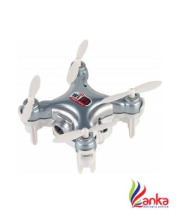 Bestie Toys Cheerson CX-10WD-TX 2.4G 4CH Mini WiFi FPV High Hold Mode 0.3MP Camera Phone Control RC Quadcopter - Silver  (Multicolor)