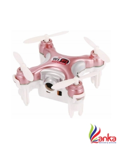 Bestie Toys Cheerson CX-10WD-TX 2.4G 4CH Mini WiFi FPV High Hold Mode 0.3MP Camera Phone Control RC Quadcopter - Rosy Red  (Multicolor)