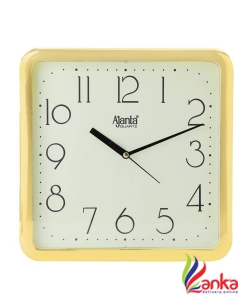 Ajanta Analog 24 cm X 24 cm Wall Clock  (Gold, With Glass)