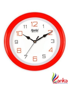 Ajanta Analog 21.6 cm X 21.6 cm Wall Clock  (Red, With Glass)