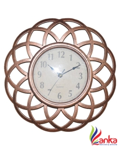 AARIP Analog 25 cm X 25 cm Wall Clock  (Brown, With Glass)