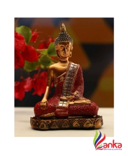 Adonai Buddha Decorative Showpiece - 15 cm  (Polyresin)