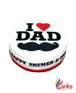 I Love Dad Fathers day cake