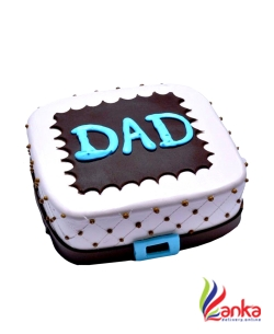 Dad Chocolate And Vanilla Fathers day cake