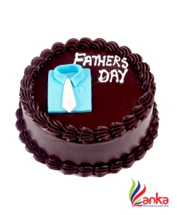 Chocolate Blue Shirt Fathers day cake