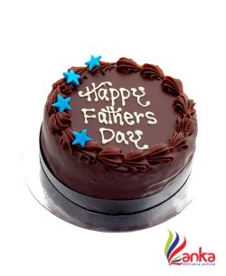 Chocolate Blue Star Fathers day cake