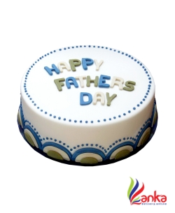 Blue Waves Fathers day cake